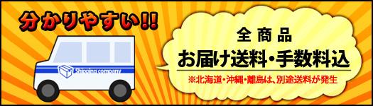 分かりやすい!!全商品お届け送料・手数料込!ただし、北海道・沖縄・離島は別途費用が発生。